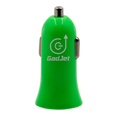 Gadjet Single Car Charger Green