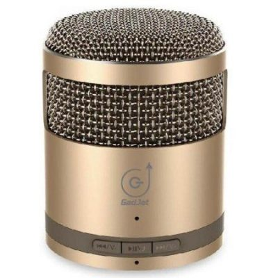 Gold Mic Style Mini Bluetooth Stereo Speaker