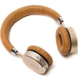 Bluetooth Headphones Gold/Cream Gadjet UK Mobile Phone Accessories Supplier
