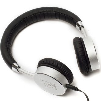 Silver/Black Metal Headphone